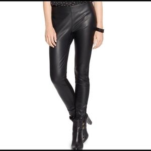 Lauren Ralph Lauren Women faux leather Front pants